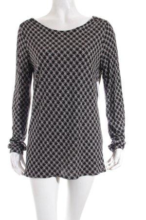Opus Longsleeve schwarz-weiß Punktemuster schlichter Stil