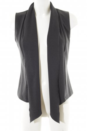 Opus Long Knitted Vest dark grey casual look