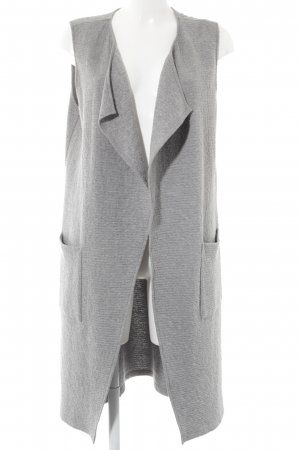 Opus Long Knitted Vest light grey flecked casual look