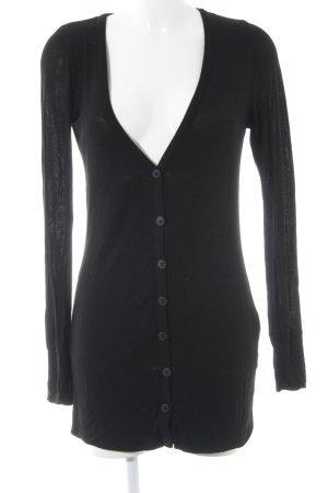 Opus Gilet long tricoté noir style décontracté