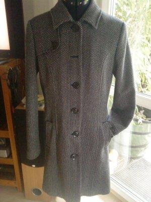 OPUS Mantel blau/beige meliert Größe 36