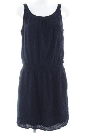 Opus Minikleid dunkelblau-schwarz Punktemuster Casual-Look