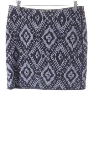 Opus Minirock schwarz-himmelblau abstraktes Muster Casual-Look