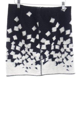 Opus Minirock schwarz-wollweiß abstraktes Muster Street-Fashion-Look