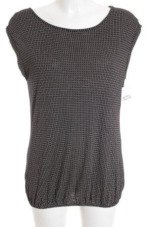 Opus Muskelshirt schwarz-weiß Punktemuster schlichter Stil