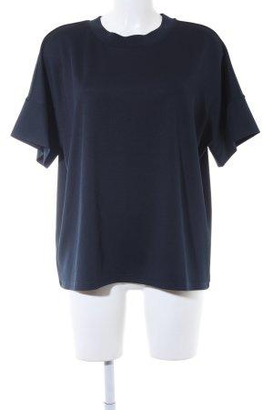 Opus Blusa ancha azul oscuro estilo sencillo