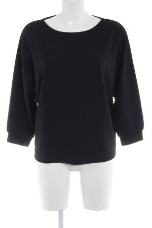 Opus Oversized Pullover schwarz Webmuster Casual-Look