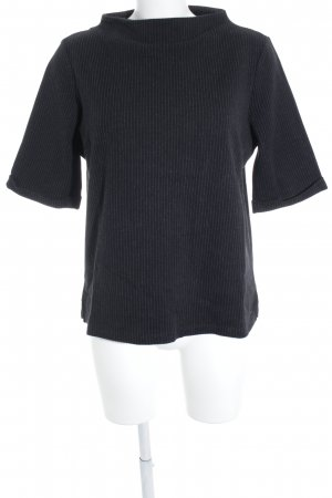 Opus Oversized Shirt black-light grey striped pattern