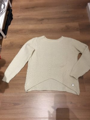 Opus Pelikan Pullover S 36 beige Creme Fussel Winter
