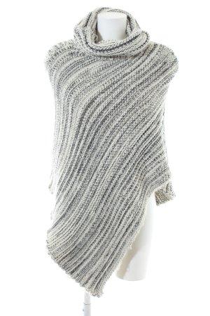 Opus Poncho weiß-schwarz Streifenmuster Casual-Look