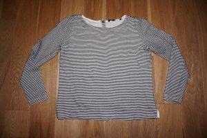 Opus Pullover Langarmshirt Blogger Shirt Streifen
