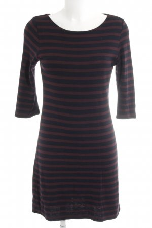 Opus Sweater Dress brown red-dark blue striped pattern casual look