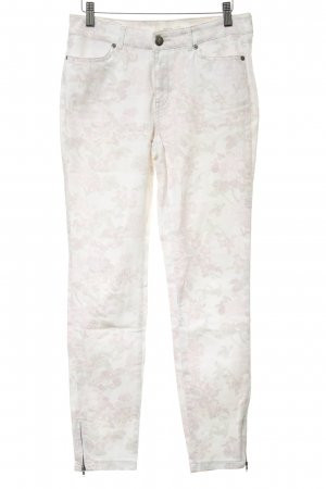 Opus Drainpipe Trousers floral pattern casual look