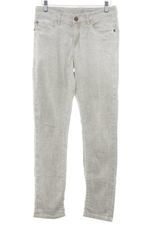Opus Pantalone a sigaretta beige chiaro-grigio chiaro stile casual