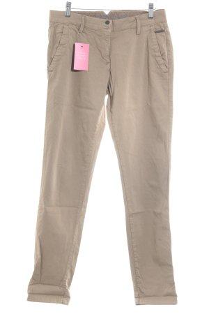 Opus Drainpipe Trousers light brown casual look
