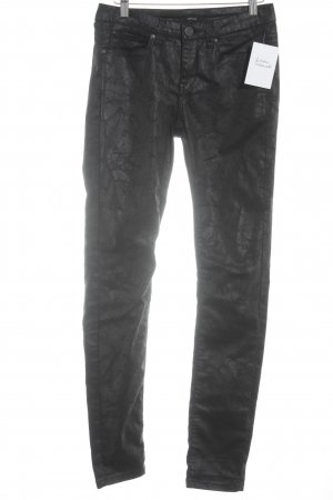Opus Tube jeans zwart abstract patroon casual uitstraling