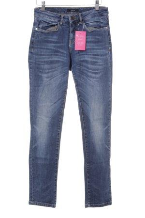 Opus Jeans a sigaretta blu acciaio look pulito