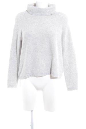 Opus Maglione dolcevita grigio chiaro puntinato stile casual