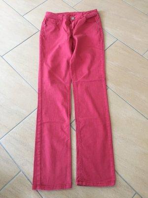 Opus rote Röhrenjeans
