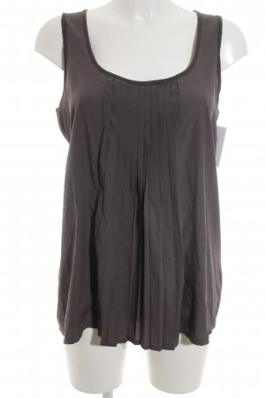 Opus Top met franjes donkergrijs-taupe casual uitstraling