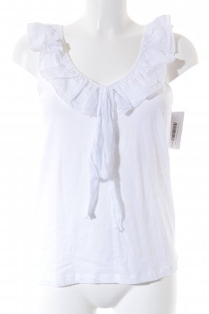 Opus Frill Top white casual look