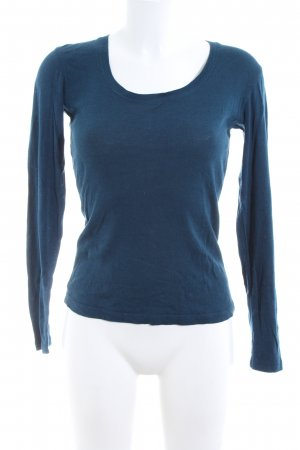 Opus Rundhalspullover blau Casual-Look