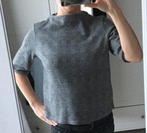 Opus Jersey de manga corta color plata-negro