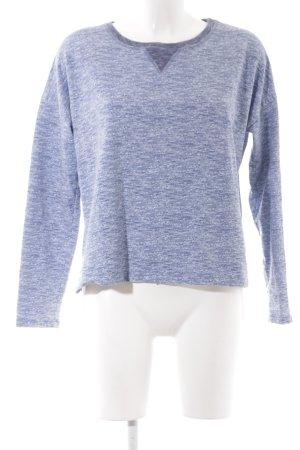 Opus Rundhalspullover himmelblau-weiß meliert schlichter Stil