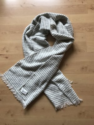 Opus Knitted Scarf natural white-azure
