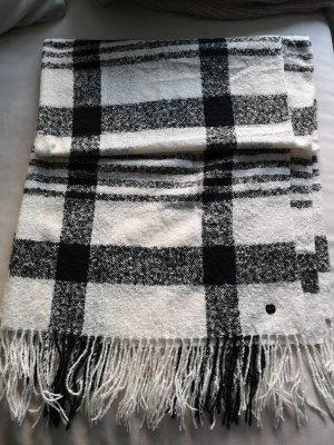 Opus Sjaal met franjes wit-zwart