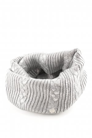 Opus Tube Scarf light grey-silver-colored wet-look