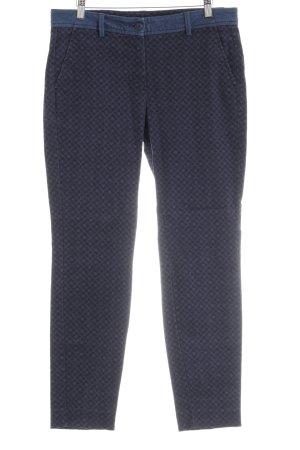 Opus Slim Jeans dunkelblau-silberfarben Ornamentenmuster Gypsy-Look