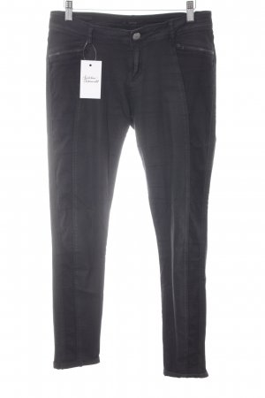 Opus Slim Jeans schwarz Biker-Look