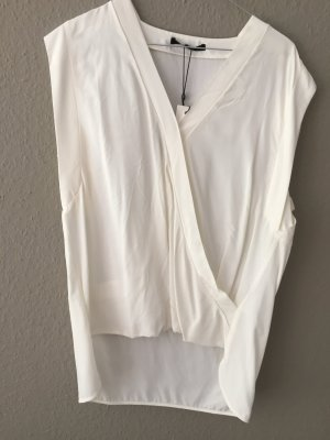 OPUS Someday Bluse Top Shirt ärmellos Creme Viscose Gr. 38