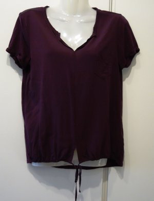 Opus Someday Faleria leichtes Shirt  Gr. S/M (36/38) weinrot bordeaux Clean Chic