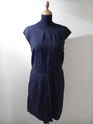 Opus someday is today 38 navy dunkelblau blau Taschen Kleid gefuttert leicht Reißverscgluss baumwolle punkte