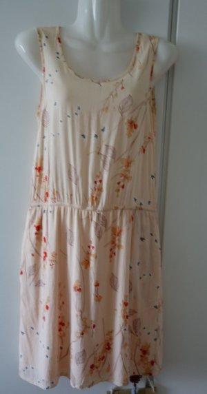 Opus Someday leichtes Kleid Gr. S/M  nude peach mit floralem Print Retro