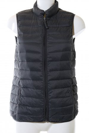 Opus Quilted Gilet black-white spot pattern casual look