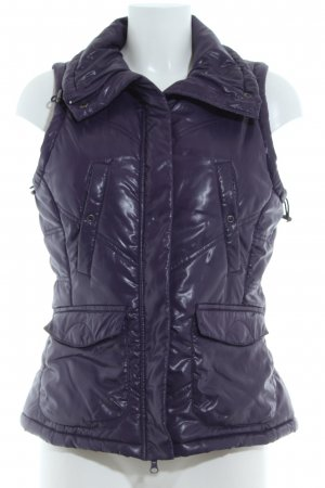 Opus Quilted Gilet blue violet quilting pattern casual look