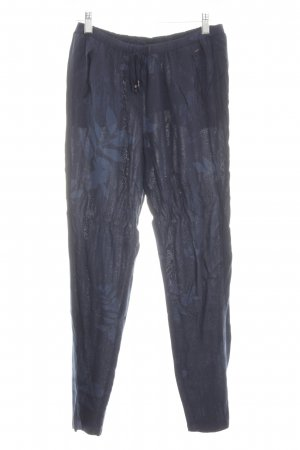 Opus Stoffhose blau Allover-Druck Casual-Look