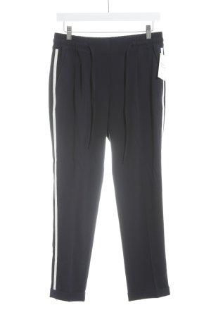 Opus Stoffhose dunkelblau-weiß sportlicher Stil