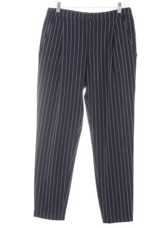 Opus Stoffhose dunkelblau-weiß Streifenmuster Business-Look