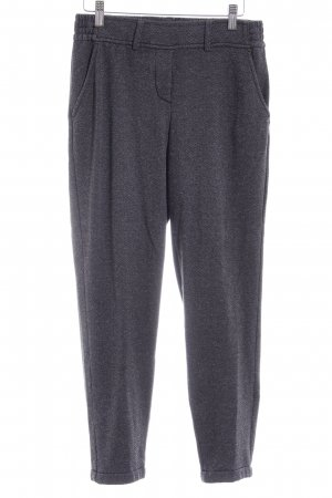Opus Stoffhose dunkelgrau grafisches Muster Casual-Look