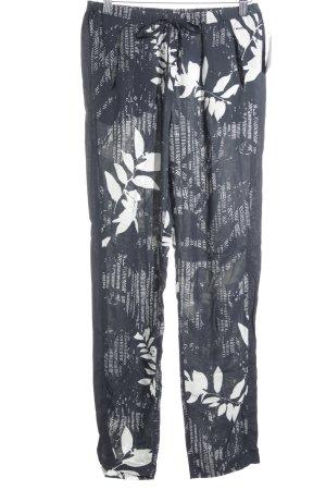 Opus Stoffhose florales Muster Casual-Look