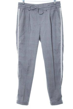 Opus Pantalone jersey nero-bianco motivo a quadri stile professionale