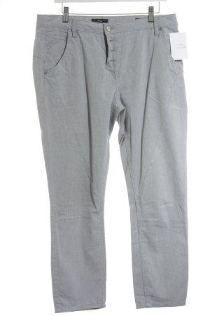 Opus Stoffhose weiß-grau Streifenmuster Casual-Look