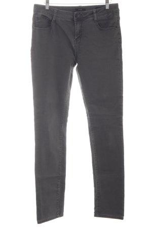 Opus Straight-Leg Jeans anthrazit Washed-Optik
