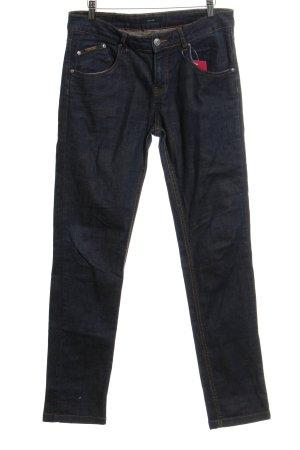 Opus Jeans a gamba dritta blu scuro stile casual