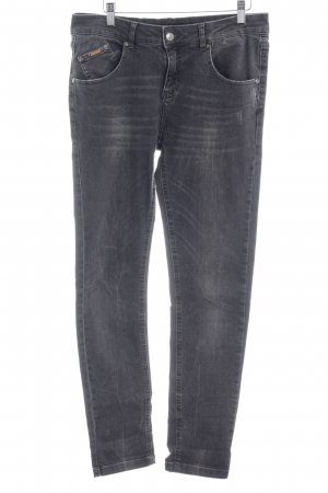 Opus Straight-Leg Jeans mehrfarbig Used-Optik