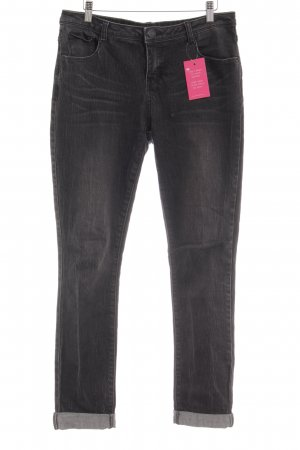Opus Straight-Leg Jeans schwarz-dunkelgrau Casual-Look